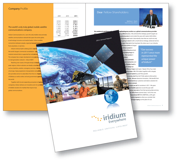 Showcase: Iridium Communications Inc. 2011 Annual Report