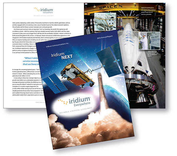 Showcase: Iridium Communications Inc. 2014 Annual Report