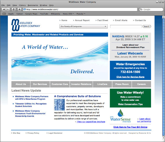 Showcase: Middlesex Water Company